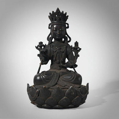 Amazing Chinese Bronze Buddha Sculpture Mercful Sitting Buddha Spirit Statue