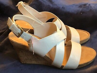 8ab8c53ea7c1 A2 By Aerosoles Women s True Plush White Wedge Sandals - Nwob - New Shoes!  Sz11M