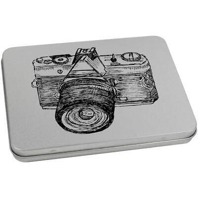 170mm 'Classic Camera' Metal Hinged Tin / Storage Box (TT00047576)