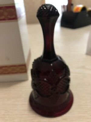 Avon 1986 Cape Cod Collection Ruby Red Glass Hostess Bell