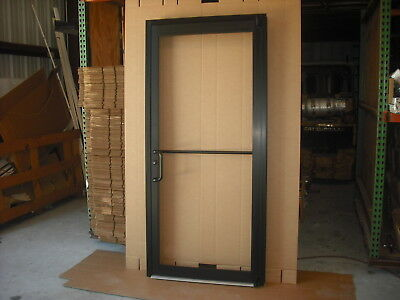 "COMMERCIAL ALUMINUM STOREFRONT DOOR, FRAME & G1 CLOSER 3'0"" x 7'0"",BRONZE FINISH"