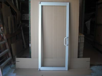 "COMMERCIAL ALUMINUM STOREFRONT DOOR, FRAME & G1 CLOSER 3'0"" x 7'0"", CLEAR FINISH"
