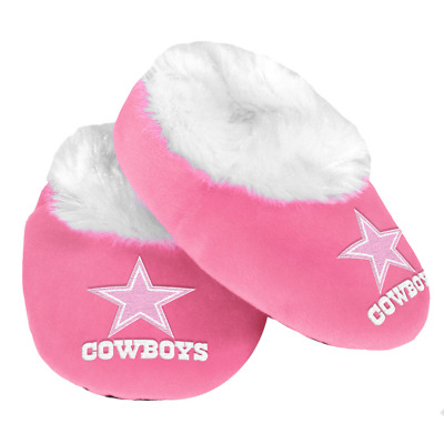 Dallas Cowboys NFL Baby Infant Pink Booties, Size Medium 3/6 Months, NWT