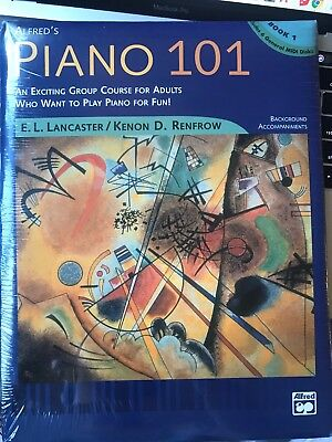 Alfred's Piano 101 Music Book/Midi Includes 6 Disks-Sealed Brand New On Sale