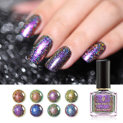 6ml BORN PRETTY Peacock Nail Polish Holographic Chameleon Nail Art Varnish Decor