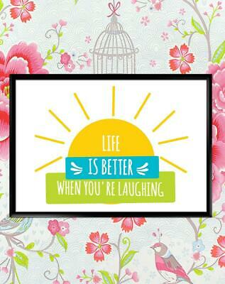 Life Is Better When Motivational Inspirational Quote Poster Print Wall Art