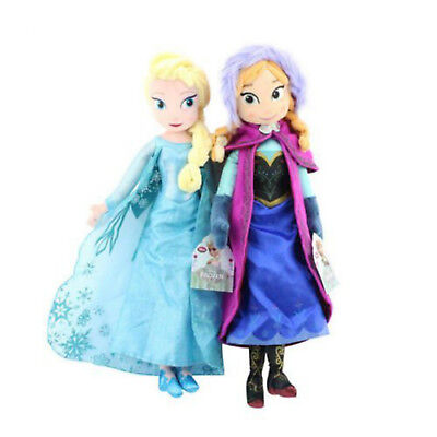 2pc Frozen Elsa & Anna Disney Princess Stuffed Plush Doll Xmas Thanksgiving Gift