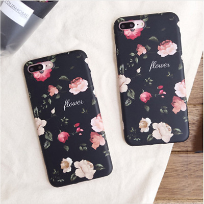 Retro Rose Flower Floral Hard protective Phone Case For iphone X 8 7 6 6s Plus