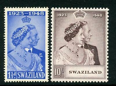 Swaziland 1948 Silver Wedding Set SG46/7 MM
