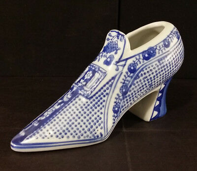 Ceramic Decorative Shoe Blue And White The Canton Collection Two's Company