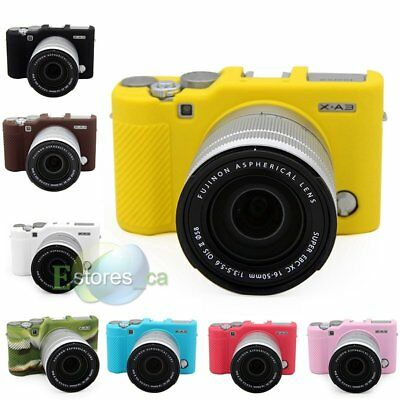 Silicone Camera Body Soft Protection Housing Cover Case For Fujifilm XA3/XA10【US