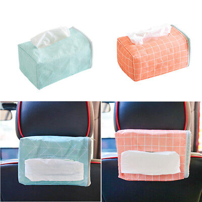 Car Hanging Fabric Tissue Box Car Room Napkin Cover Paper Storage Holder Case