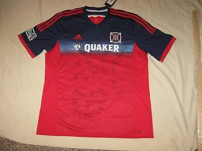 huge discount dbce7 1bcd8 CHICAGO FIRE SOCCER Jersey Men's XL Adidas New W/Tags (Autographs) MLS  Signed