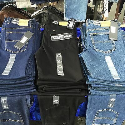 Riders by Lee jeans, men's stretch straight stonewashed Size: Waist:30-48 L:79