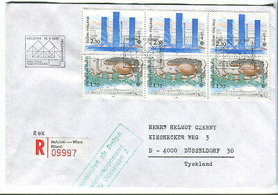1987 Finland Europa. Art & Architecture registered FDC. First day cover