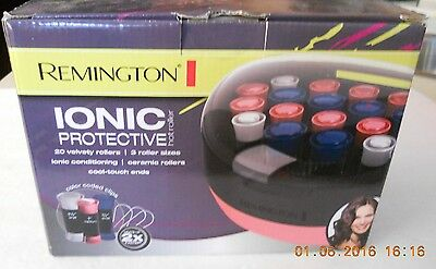 Remington Ionic Protective Hot Velvet Curlers 20 Piece Roller Set H5600 W/Clips