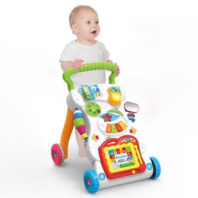 Interesting Baby Toddler Push Music Walker Education Learning Toy Toys Walker HY
