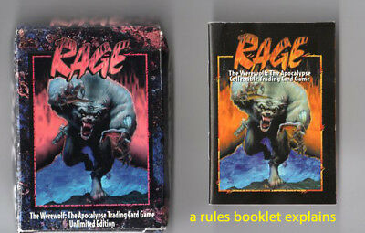 Collection RAGE WereWhole the Apocalypse  trading card & rules booklet USA carte