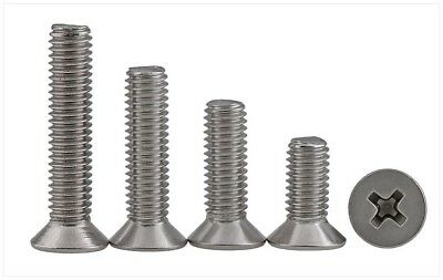 M4*10MM-70MM 316 A4 Stainless Steel Countersunk Flat Head Phillips Machine Screw