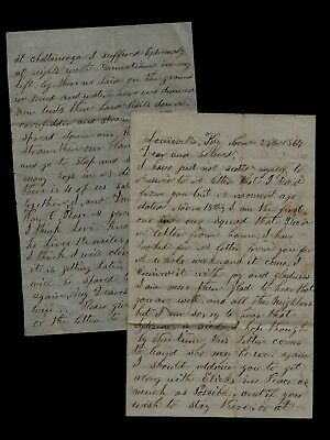 17th Indiana Cavalry CIVIL WAR LETTER from Louisville, Kentucky GREAT CONTENT !