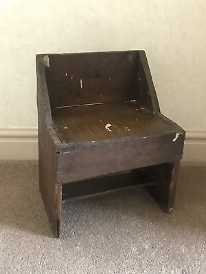 Genuine Antique Childs Boxwood Shed Furniture Chair