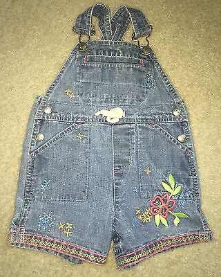 Baby Gap Girls Denim Jeans Shorts Shortalls Overalls - Size 6-12 Months