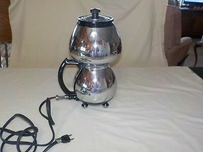 Vtg Sunbeam COFFEEMASTER Model C20-B Double Bubble Chrome Art Deco Vacuum TESTED