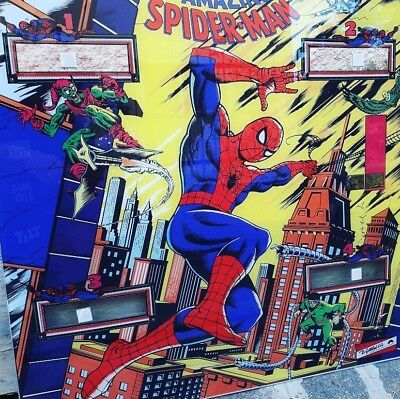 Gottlieb The Amazing Spider-Man Backglass verre Backplate Machine reproduction