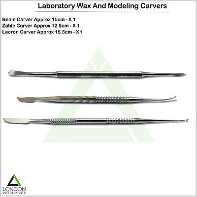 Set Of 3 Wax & Modelling Carvers Mixing Spatula Laboratory Sculpting Tools