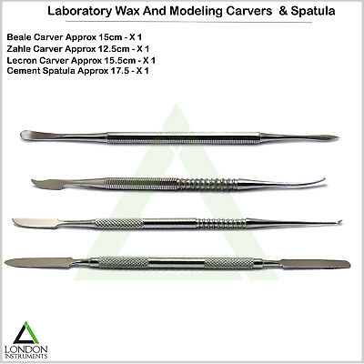 Dental Zahle Beale Lecron Wax & Modelling Carvers Mixing Spatula Laboratory Tool