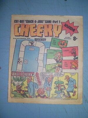 Cheeky issue dated September 2 1978