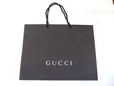 GUCCI Large Paper Shopping Bag Black Gift Bag 19x14x7 inches