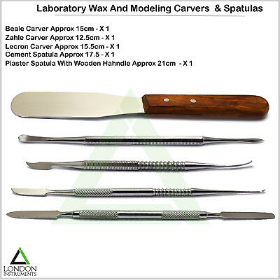 5PCS  Dental Wax Modelling Carvers Amalgam Mixing Spatula Laboratory Instruments