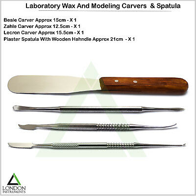 4PCS Laboratory Technician Wax Carvers Waxing Carving Plaster Spatula Mixing Lab