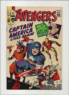 Avengers 4 NM 9.4 GRR 1966 First Silver Age Captain America  Jack Kirby Stan Lee
