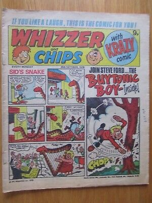 WHIZZER & CHIPS COMIC 28th October 1978. Novel 40th Birthday Present!