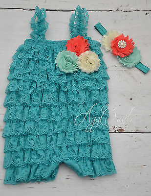 4c5236cbf2a PETTI LACE ROMPER and headband set
