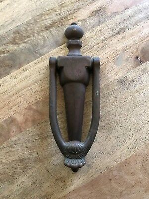 "8"" Solid Brass Bronze Vintage Door Knocker Bolts Included Hardware Antique"
