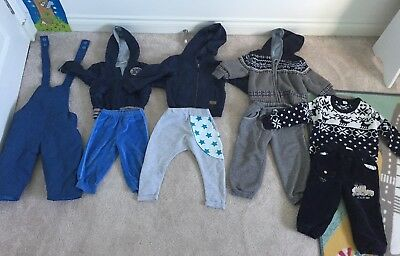 Baby Boy Winter Clothing And Jacket Bundle Age 6-12 Months