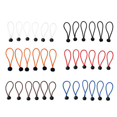 """Heavy Duty 6""""9''8'' 5''4'' Ball Bungee Cord Tarp Canopy Tie Down Strap Rope"""