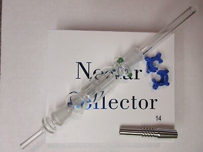 14Mm Nectar Collector Kit With Quartz And Titanium Tips **usa Seller**