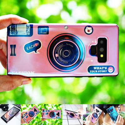 Retro 3D Camera Pattern Shockproof Phone Case Cover For Samsung Galaxy Note 9 S9