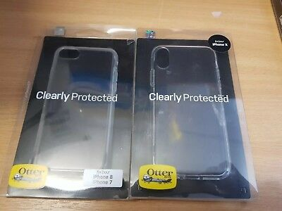 best service d7b4a 2afc5 OTTERBOX CLEARLY PROTECTED Skin Series for iPhone 8, iPhone 7, iPhone X XS