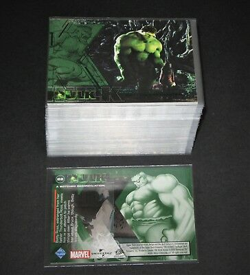 THE INCREDIBLE HULK (Movie) © 2003 Upper Deck Complete 81 Card Marvel Set