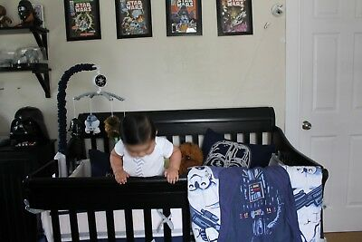 3 piece  star wars Baby bedding, quilt, sheet, baby mobile