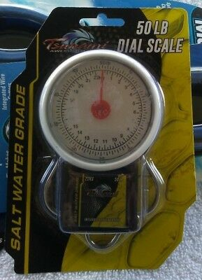 Tsunami Saltwater Grade 50 Lb Dial Fish Scale With Integrated Tape Measure Nip