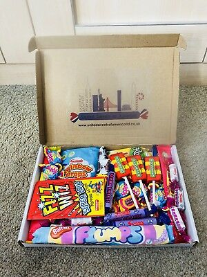 Retro Sweets Hamper Old Fashioned 80s Traditional Candy Gift Box Birthday Easter