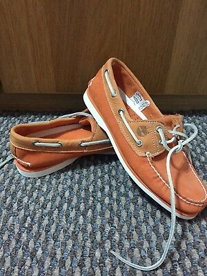 Mens Timberland Boat Deck Shoes Nubuck Premium Leather Suede Size 6