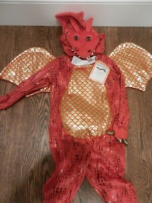 Pottery Barn Kids Baby Red Dragon Halloween Costume 12-24 Months NWT New