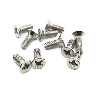 M3 x 8mm (0.50mm), Flat Head Phillips Screw Bolt, A2 18-8 Stainless Steel